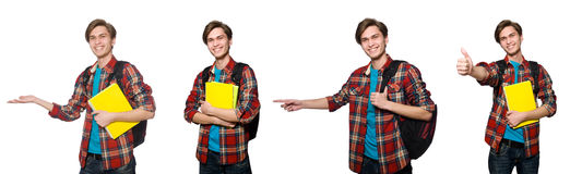 Composite photo of student with books Stock Photography