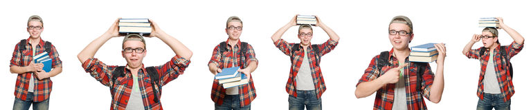 The composite photo of student with books Stock Photography