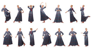 The composite photo of woman in various poses Royalty Free Stock Photos