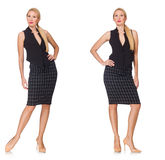 The composite photo of woman in various poses Stock Photo