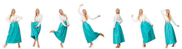 The composite photo of woman in various poses Royalty Free Stock Image