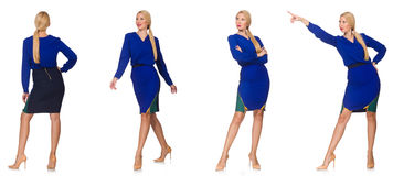 Composite photo of woman in various poses Royalty Free Stock Photography