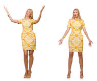 Composite photo of woman in various poses Stock Photography