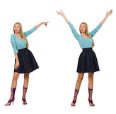 Composite photo of woman in various poses Stock Images