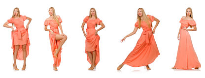 Composite photo of woman in various poses Royalty Free Stock Images