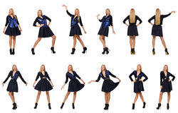Composite photo of woman in various poses Stock Photo