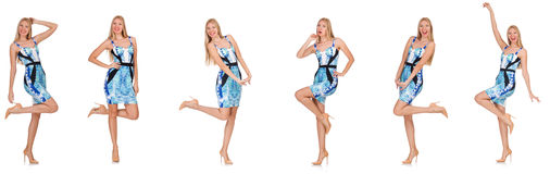 Composite photo of woman in various poses Royalty Free Stock Photos