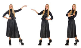 The composite photo of woman in various poses Royalty Free Stock Images