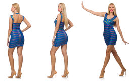 The composite photo of woman in various poses Royalty Free Stock Photo