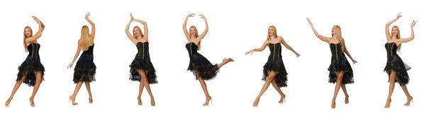 The composite photo of woman in various poses Royalty Free Stock Photography