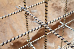 Composite Rebars. Reinforcing cage. Fiberglass reinforcement. royalty free stock images