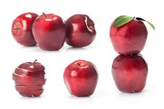 Composite with red apples fruit Royalty Free Stock Image