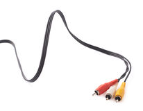 Composite video RCA cable connector Royalty Free Stock Images