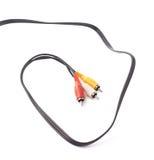 Composite video RCA cable connector Stock Photos