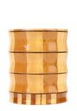 Composite wooden jar. Royalty Free Stock Photos