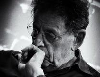 Compositeur américain Philip Glass Photos stock
