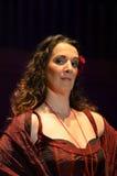 Compositeur et chanteur portugais Dulce Pontes Images libres de droits
