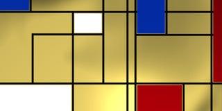 Compositio geométrico com linhas pretas Imagem de Stock Royalty Free