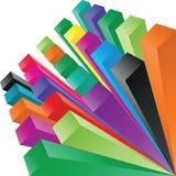 composition 3d des cubes illustration stock