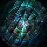Composition of abstract radial grid Stock Photo