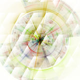 Composition of abstract radial grid Stock Photography