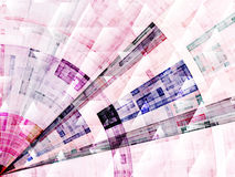 Composition of abstract radial grid Royalty Free Stock Photo