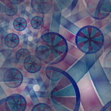 Composition of abstract radial grid Royalty Free Stock Photography