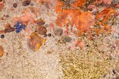 Composition abstraite avec le mélange de pétrole, d'eau et d'inkt coloré Images stock