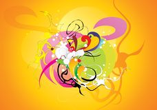 Composition abstraite d'éléments de couleur Photos stock