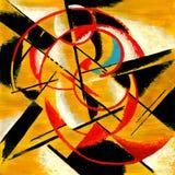 Composition abstraite dans des tons de moutarde illustration de vecteur