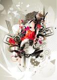 Composition abstraite de couleur illustration de vecteur