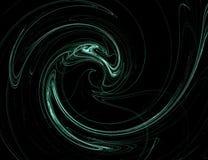 Composition abstraite de figure des lignes de intersection de couleur sur un fond noir, fractale, pour des couvertures, disques,  illustration stock