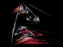 Composition abstraite de figure des lignes de intersection de couleur sur un fond noir, fractale, pour des couvertures, disques,  illustration libre de droits