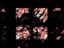 Composition abstraite de figure des lignes de intersection de couleur sur un fond noir, fractale, pour des couvertures, disques,  illustration de vecteur