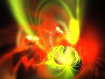 Composition abstraite de figure des lignes de intersection de couleur sur un fond noir, fractale, pour des couvertures, disques,  images libres de droits