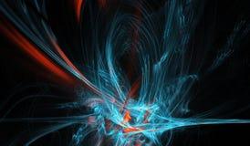 Composition abstraite de figure des lignes de intersection de couleur sur un fond noir, fractale, pour des couvertures, disques,  image libre de droits