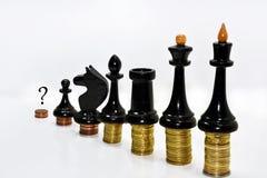 Composition abstraite des échecs et de l'argent Photo libre de droits