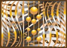 Composition abstraite des billes et des courbes. Illus Image libre de droits