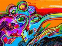 Composition abstraite en peinture de Digital illustration libre de droits