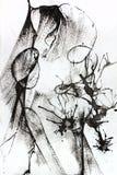 Composition abstraite noire et blanche Photo stock