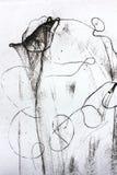 Composition abstraite noire et blanche Images libres de droits