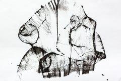 Composition abstraite noire et blanche Image libre de droits