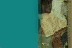 Composition abstraite - vert Photographie stock libre de droits