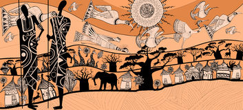 Composition about africa. Vector illustration of a composition about africa (each element separated Stock Photo