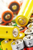 Composition with alkaline batteries Royalty Free Stock Image