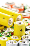 Composition with alkaline batteries Stock Photos
