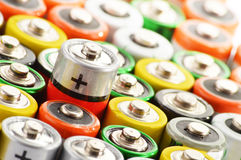 Composition with alkaline batteries Stock Photography