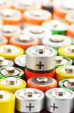Composition with alkaline batteries Royalty Free Stock Photography