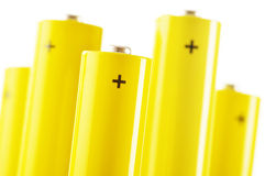 Composition with alkaline batteries. Chemical waste Royalty Free Stock Photo