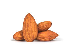 Composition from almond nuts Royalty Free Stock Photo